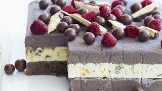 Смотреть онлайн Сумасшедший готовит торт-мороженое