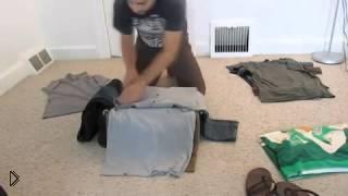 Смотреть онлайн Компактно упаковываем вещи в чемодан
