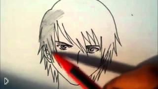 Рисуем лицо аниме-героя - Видео онлайн