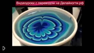 Смотреть онлайн Убойный маникюр с помощью воды и трех контрастных лаков