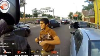 Смотреть онлайн Последствия драки мотоциклиста с кавказцами
