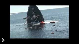 Смотреть онлайн Катастрофа корабля на море