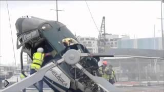 Смотреть онлайн Катастрофа вертолета на строительной площадке