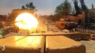 Смотреть онлайн Реальный бой танков в Сирии