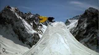 Смотреть онлайн Экстремальные прыжки на сноуборде