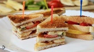 Смотреть онлайн Рецепт вкусного сладкого сэндвича в домашних условиях