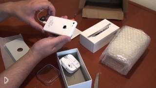 Смотреть онлайн Обзор распаковки китайского айфона 5 с