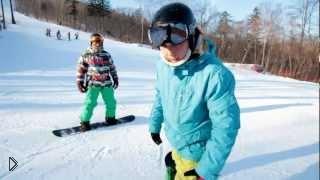 Смотреть онлайн Уроки сноубординга: фристайл для начинающих