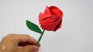 Смотреть онлайн Как сделать поделку цветок из бумаги