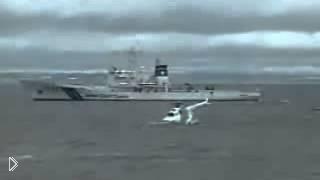 Смотреть онлайн Крушение вертолета на воде
