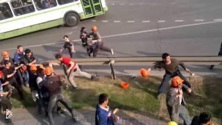 Драка таджиков и узбеков в Москве - Видео онлайн