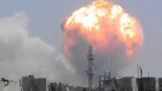 Огромный взрыв склада  с боеприпасами - Видео онлайн