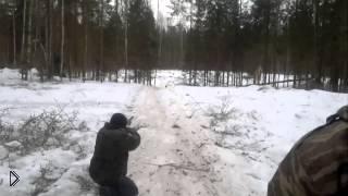 Смотреть онлайн Неудачная зимняя охота на дикого кабана
