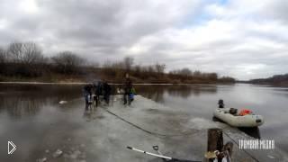 Смотреть онлайн Ребята отдыхают на плавающем куске льда