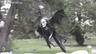 Смотреть онлайн Страшный летающий мертвец пугает всех