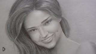 Смотреть онлайн Как нарисовать карандошом портрет девушки поэтапно