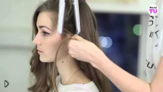 Смотреть онлайн Как правильно крутить волосы плойкой
