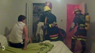 Смотреть онлайн Друзья переоделись в пожарных и разыграли друга