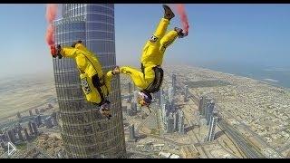 Смотреть онлайн Прыжок с самой высокой башни в Дубаи