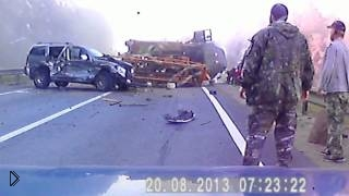 Смотреть онлайн Самая страшная авария на дороге с смертельным исходом