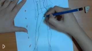 Смотреть онлайн Как рисовать манекен карандашом для эскиза одежды