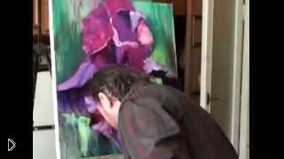 Смотреть онлайн Как рисовать цветок масляными красками