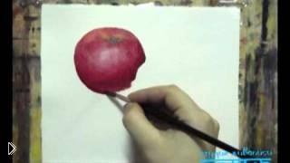 Смотреть онлайн Как нарисовать акварелью натюрморт с фруктами