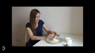 Смотреть онлайн Белковый салатик Ранний Снег