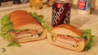 Смотреть онлайн Рецепт крутого бутерброда под прессом на пикник