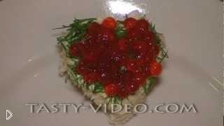 Смотреть онлайн Рецепт праздничных бутербродов с икрой на свадьбу