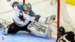 Смотреть онлайн Лучшие сейвы хоккейных вратарей