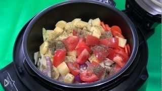 Смотреть онлайн Рецепт соте из овощей в мультиварке Ремонд