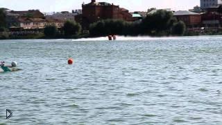 Смотреть онлайн Гонка Формулы-1 на воде в Казани