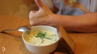 Смотреть онлайн Сырный суп с курицей и плавленым сыром