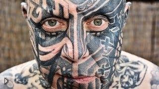 Смотреть онлайн Экстремальное тату на все тело и лицо