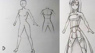 Смотреть онлайн Как поэтапно нарисовать карандашом аниме девушку