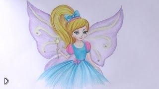 Смотреть онлайн Как поэтапно нарисовать красивую фею карандашом