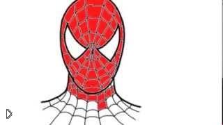 Смотреть онлайн Как нарисовать маску человека-паука