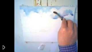 Смотреть онлайн Как акварелью поэтапно нарисовать небо