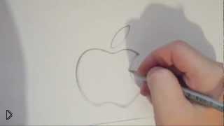 Смотреть онлайн Как поэтапно нарисовать значок Аpple карандашом