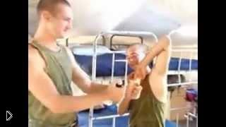 Смотреть онлайн Как быстро побрить подмышки в армии