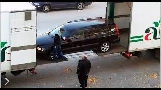 Прикол с грузовиками: «Погрузка легковушки» - Видео онлайн