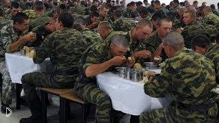 Смотреть онлайн Армейский прикол: как надо убегать на обед