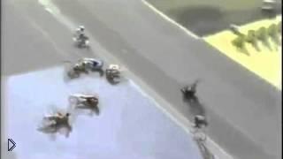 Массовое падение на велогонках перед финишем - Видео онлайн