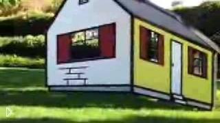 Смотреть онлайн Иллюзия красочного домика на улице