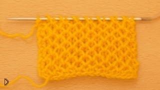 Смотреть онлайн Схема узора «Соты» для вязания спицами