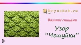 Смотреть онлайн Схема для вязания спицами – «Чешуйки»