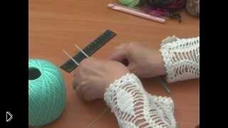 Смотреть онлайн Урок по вязанию на вилке для начинающих