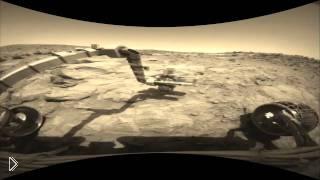Смотреть онлайн Первая запись с поверхности марса снятое марсоходом