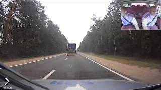 Смотреть онлайн Погоня ДПС за пьяным водителем фуры